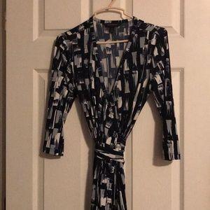 Banana Republic Patterned Wrap Dress